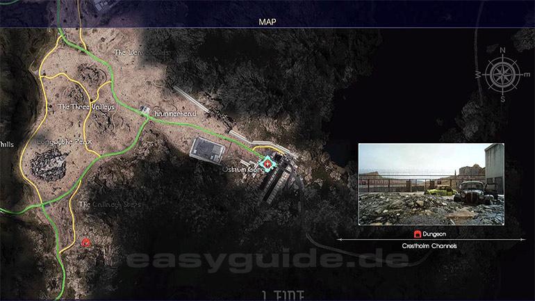 Final Fantasy 15 Königswaffen Karte.Final Fantasy Xv Dungeon Crestholm Aquädukte Ps4