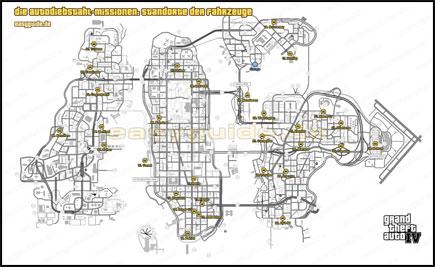Gta 4 Stevie Autos Karte.Grand Theft Auto Iv Die Autodiebstahl Missionen Losung