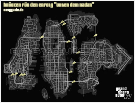 Gta 4 Karte.Grand Theft Auto Iv Die Zu Unterfliegenden Hauptbrücken L