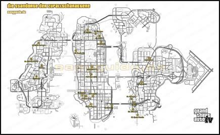 Gta 4 Karte.Grand Theft Auto Iv Die Begegnungen Mit Den Zufallscharakte