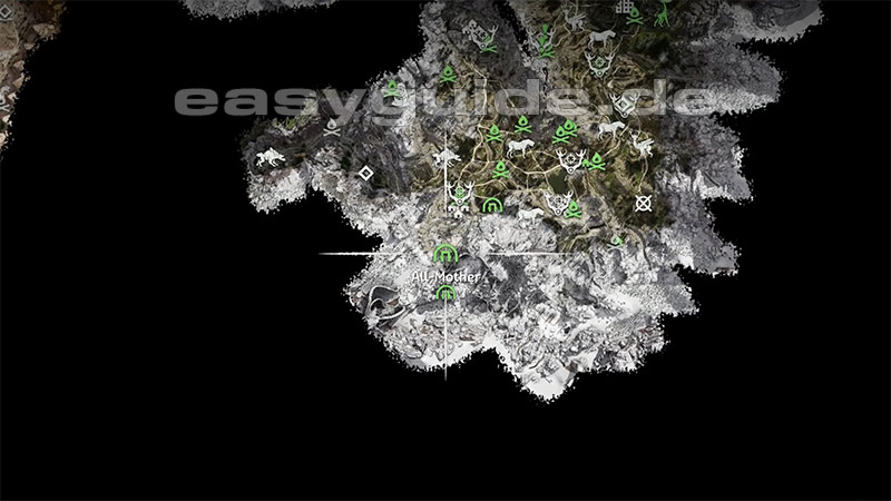 Horizon Zero Dawn Karte Energiezellen.Horizon Zero Dawn Schildweberin Energiezellen Ps4