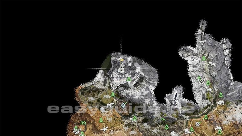 horizon zero dawn energiezellen karte Horizon: Zero Dawn   Schildweberin & Energiezellen (PS4) easyguide