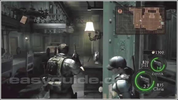 resident evil 5 - die fundorte der punkte-sterne im herrenhau, Esszimmer dekoo